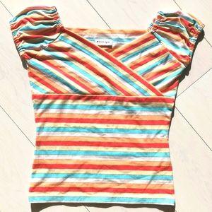 NWOT Short sleeve top ruched sleeves